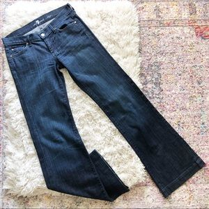 7 For All Mankind | Dojo Dark Wide Leg Jeans 28